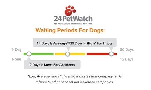 24PetWatch Pet Insurance waiting periods