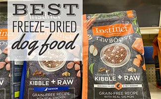 Bags of instinct dog food (Caption: Best Freeze-Dried Dog Food)