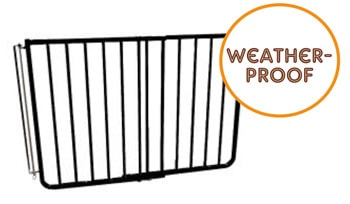 Outdoor pet gate: Cardinal Gates Stairway Special Outdoor Gate