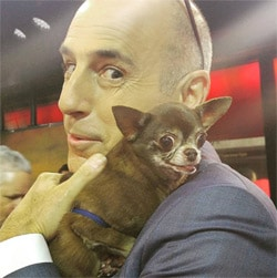 Matt Lauer cuddling with Chloe