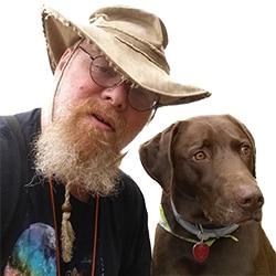 Dane Morgan with dog