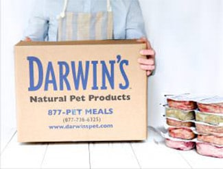 Darwin's food and person with box