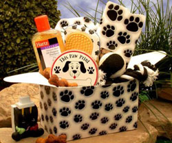Paw prints Doggie Care Package Gift Basket
