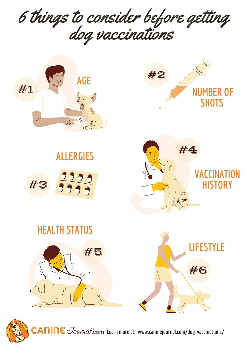 Things to Consider Before Getting Dog Vaccinations Infographic