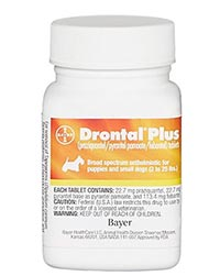 Bottle of Drontal Plus