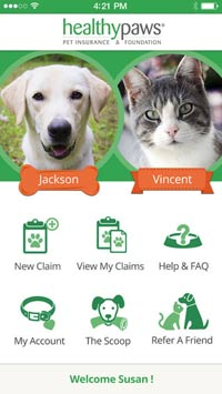 Healthy Paws Pet Insurance App screenshot