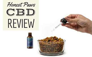 Honest Paws CBD Drops in food (caption: Honest Paws Review)