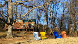 Honey Hill Cabins Adirondack Chairs in Asheville, NC