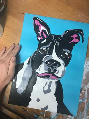 Colorful Custom Pet Portraits from KayHamArt