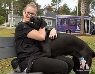 K9s For Warriors dog with vet