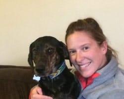 Kimberly Alt and her dog Sally