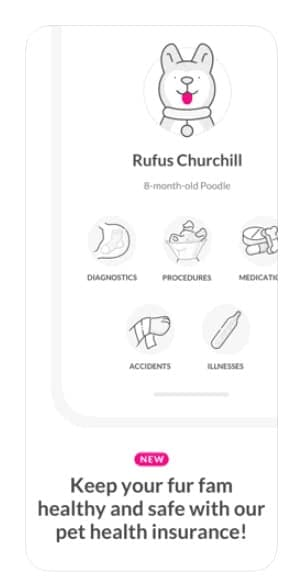 Lemonade Pet Insurance app screenshot