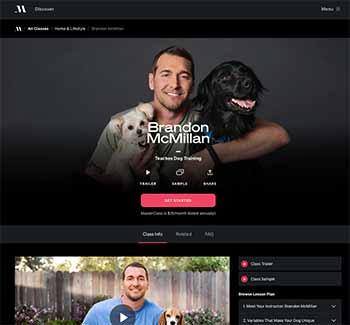 Brandon McMillan dog trainer on MasterClass screenshot