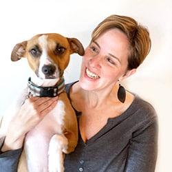 Michelle Schenker with Barley dog
