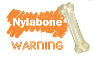 Nylabone with warning message