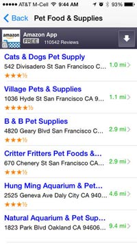 Pet Care Services Finder App screenshot