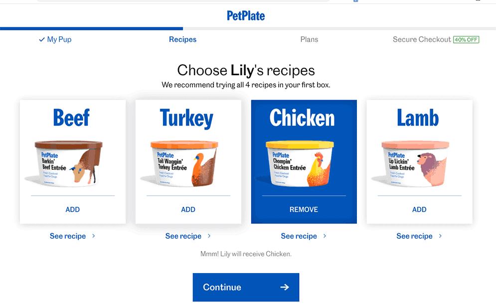 PetPlate recipes
