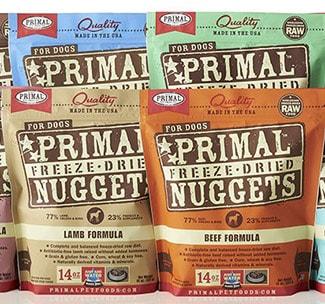 Primal Pet Foods bags