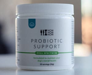 NomNomNow Probiotic Support product on counter