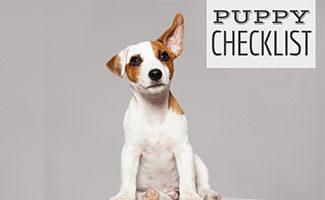 Puppy sitting (caption: Puppy Checklist)