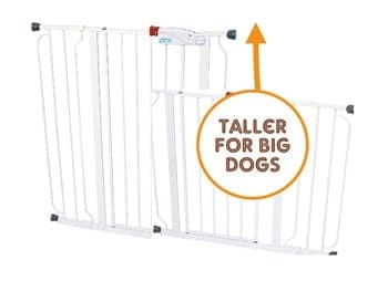 Extra tall for big dogs: Regalo Easy Step Extra Tall Walk Thru Gate