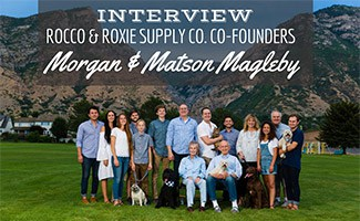 Rocco & Roxie team photo (caption:Interview: Rocco & Roxie Supply Co. Co-Founders, Morgan and Matson Magleby)