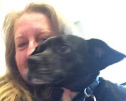 Sally Jones with dog