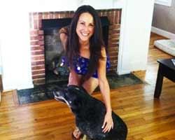 Sara Wilson Coffin and dog
