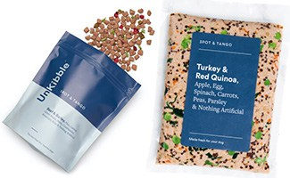 Spot & Tango dog food packages