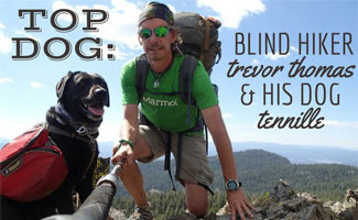Blind Hiker Trevor Thomas' Dog Tennille