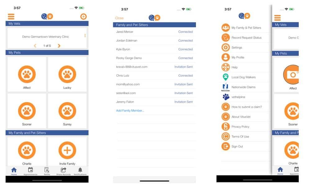 VitusVet App Screenshots