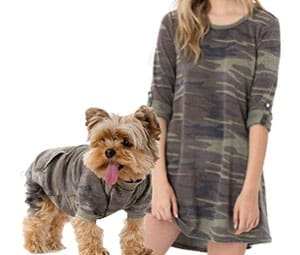 Girl and dog in matching Z Supply camo